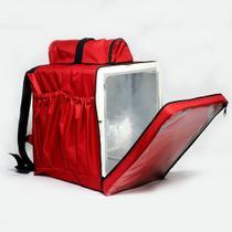 Mochila Termica Entregas Moto 45 Litros Isopor Vermelha revestida Entregador comida oriental ifood - Bag Bolsas