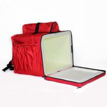 Mochila Termica para Entregas Moto 45 Litros Isopor Vermelha Bolsa Entregador Pizza - Bag Bolsas