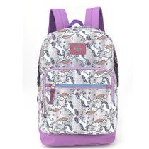 Mochila Up4you collection Unicórnio  MS45578UP Prata - Luxcel