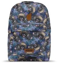 Mochila Usthemp Vegano Casual Unissex Estampa Purple Pug -