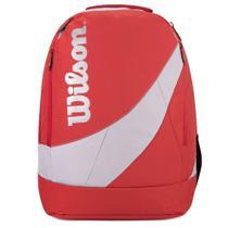 Mochila Wilson Vermelha/Prata - Esportiva Notebook Escolar Casual Lazer 35l -
