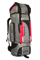 Mochilão de camping Impermeável espaçosa reforçada 90 litros Cinza e vermelho - Ripstop Yins