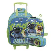 Mochilete Puppy Dog Pals c/Rod Disney + Lancheira + Estojo Duplo -