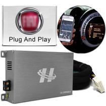 Módulo Amplificador Hurricane H1-DSP400.4 400W RMS 4 Canais 4 Ohms + Chicote Plug and Play Fiat -