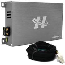 Módulo Amplificador Hurricane H1-DSP400.4 400W RMS 4 Canais 4 Ohms + Chicote Plug and Play Hyundai -