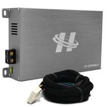 Módulo Amplificador Hurricane H1-DSP400.4 400W RMS 4 Canais 4 Ohms + Chicote Plug and Play Nissan -