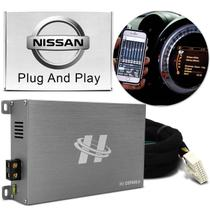 Módulo Amplificador Hurricane H1-DSP400.4 400W RMS 4 Canais 4 Ohms + Chicote Plug and Play Nissan