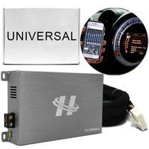 Módulo Amplificador Hurricane H1-DSP400.4 400W RMS 4 Canais 4 Ohms + Chicote Plug and Play Universal -