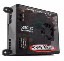 Módulo Amplificador Soundigital SD250.2D Nano 250W Rms 2 Ohms 2 Canais -