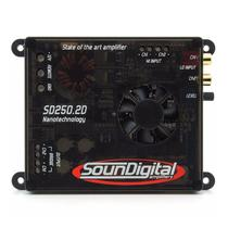 Módulo Amplificador SounDigital  SD250 2D4 Nano 250W Rms 2 Canais  4 Ohms -