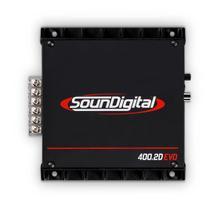 Módulo Amplificador Soundigital SD400.2D Evo 400W Rms 2 Ohms 2 Canais -
