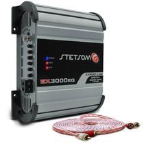 Módulo Amplificador Stetsom Export Line EX 3000 EQ 3000W RMS 1 Canal 2 Ohms + Cabo Stetsom 5M 2mm² -