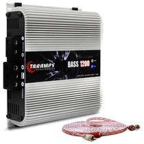 Módulo Amplificador Taramps Bass 1200 1200W RMS 1 Canal 1 Ohm Classe D + Cabo RCA Stetsom 5M 2mm² - Prime
