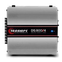 Módulo Amplificador Taramps DS 800X4 800W RMS 4 Canais 2 Ohms RCA Classe D -
