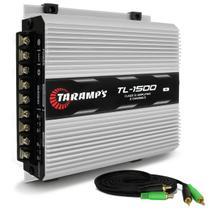 Módulo Amplificador Taramps TL 1500 Class D Amplifier 390W RMS 3 Canais 2 Ohms + Cabo RCA 4mm 5m - Prime