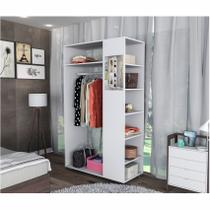Módulo Closet Com Prateleiras e Espelho Moove Branco Appunto -