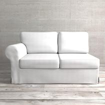 Módulo de Sofá de 2 Lugares Lado Direito com capa Juliette II de Sarja Branco - Etna
