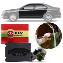 Módulo Vidro Elétrico Ford Fusion 09 a 12 4 Portas Antiesmagamento Tury Pro 4.15 DM Plug and Play -