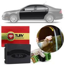 Módulo Vidro Elétrico Ford Fusion 09 a 12 4 Portas Antiesmagamento Tury Pro 4.42 AR Plug and Play -
