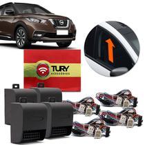 Módulo Vidro Elétrico Nissan Kicks 16 a 19 4 Portas Antiesmagamento Plug And Play Tury LVX 5.13 DO -