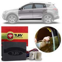 Módulo Vidro Elétrico Toyota RAV4 2013 a 2019 4 Portas Antiesmagamento Plug And Play Tury PRO 4.8 BH -