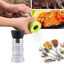 Moedor Pimenta Sal Temperos Condimentos Diversos Pequeno Útil Cozinha Acrílico 12,5 x 4,7cm - Unygift