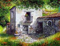 Moinho Antigo - Francesco Mangialardi - Tela 60x78 Para Quadro - Santhatela