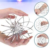 Mola Metal Brinquedo satisfatório Para Criança Magic Ring Interativa Manobras - lx