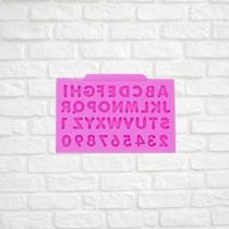 Molde de silicone alfabeto confeitaria biscuit f630 - Cm