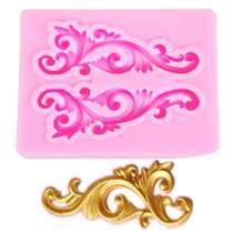 Molde de silicone arabesco para decorar f52 - Confeitaria Dos Moldes