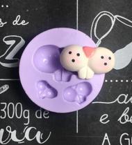 Molde de silicone coelho focinho para decorar f479 - Cm