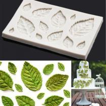Molde de silicone folhas para decorar f211 - Cm