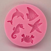 Molde de silicone fundo do para decorar f46 - Confeitaria Dos Moldes