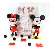 Molde De Silicone Mickey E Minnie De Montar Grande - Leb Decorações