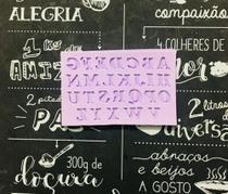 Molde de silicone mini alfabeto para decorar f284 - Cm