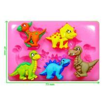 Molde de silicone mini dinossauro baby para decorar f121 - Confeitaria Dos Moldes