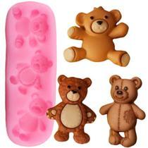 Molde de silicone mini ursos para decorar f434 - Cm