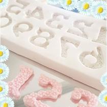 Molde de silicone números floridos confeitaria biscuit f582 - Cm