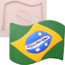 Molde de Silicone para Biscuit Casa da Arte - Modelo: Bandeira do Brasil 947 -