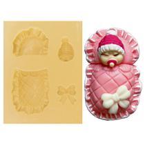 Molde de Silicone para Biscuit Casa da Arte - Modelo: Kit Nenê 234 -