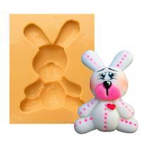 Molde de Silicone para Biscuit Casa da Arte - Modelo: Mini Coelho 1165 -