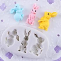 Molde de silicone páscoa coelho para decorar f157 - Cm