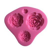 Molde de silicone rosas para decorar f45 - Confeitaria Dos Moldes
