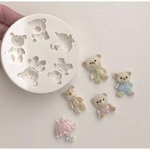 Molde de silicone ursos ursinho para decorar cia do molde -