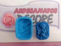 Molde Forma Silicone Sabonete Vela Biscuit Resina - Anjo Rezando - Menino - Decore Artesanatos Sp