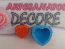 Molde Forma Silicone Sabonete Vela Biscuit Resina - Coração Dias Namorados - Decore Artesanatos Sp