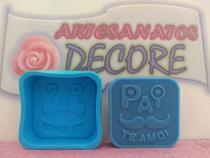 Molde Forma Silicone Sabonete Vela Biscuit Resina - Pai Te Amo - Decore Artesanatos Sp