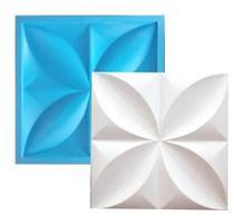 Molde Silicone Para Placa 3D - Gesso / Cimento  - Petalas 29x29 - Decore Gesso Sp