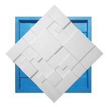 Molde Silicone Para Placas De Gesso 3d - Mosaico Liso 29x29 - Silico Home
