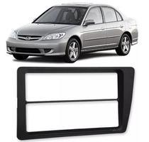 Moldura 2 Din Honda Civic 2001 2002 2003 2004 2005 2006 - Autoplast